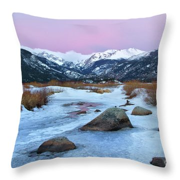 Sunrise At Rocky Mountain National Park Throw Pillow