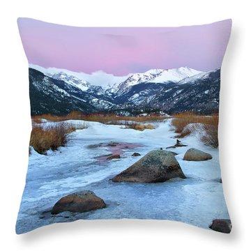 Sunrise At Rocky Mountain National Park Throw Pillow by Ronda Kimbrow