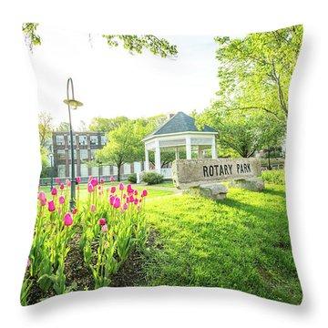 Sunrise At Rotary Park Throw Pillow