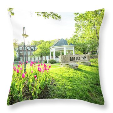 Sunrise At Rotary Park Throw Pillow