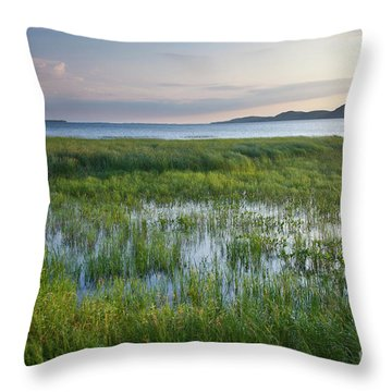 Throw Pillow featuring the photograph Sunrise At Sandbar  by Susan Cole Kelly