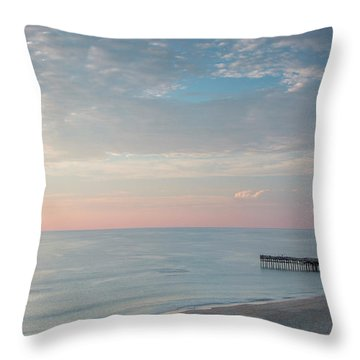 Sunrise At Sandbridge, Va Throw Pillow