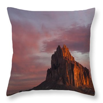 Sunrise At Shiprock New Mexico Throw Pillow