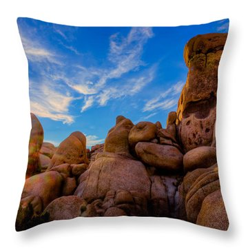Sunrise At Skull Rock Throw Pillow