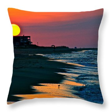 Sunrise At St. George Island Florida Throw Pillow