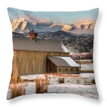Sunrise At Tate Barn Throw Pillow