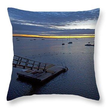 Sunrise At The Barnstable Yacht Club Throw Pillow