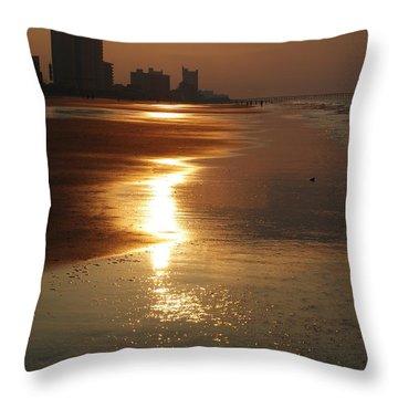 Sunrise At The Beach Throw Pillow