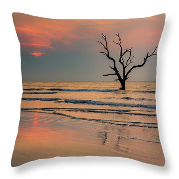 Sunrise At The Boneyard Throw Pillow by Patricia Schaefer