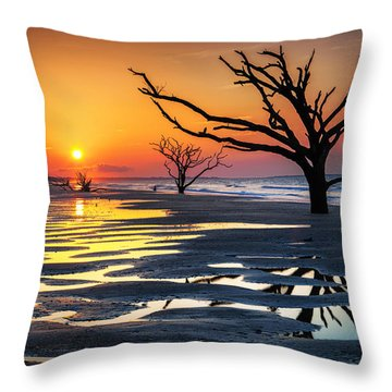 Sunrise At The Boneyard Throw Pillow