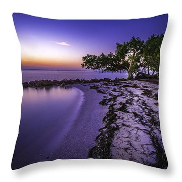 End Of The Beach Throw Pillow