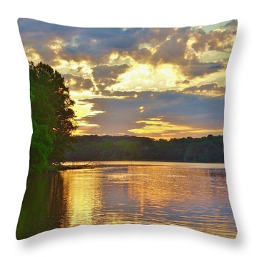 Sunrise At The Landing Throw Pillow