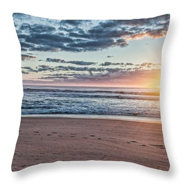 Sunrise At The Outer Banks Throw Pillow by Laurinda Bowling