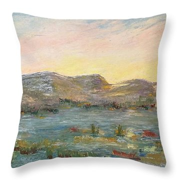 Sunrise At The Pond Throw Pillow