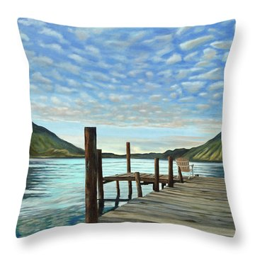 Sunrise At The Water Throw Pillow