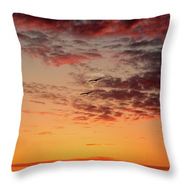 Sunrise At Treasure Island Throw Pillow by RC Pics