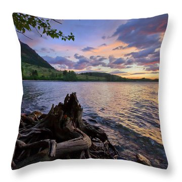 Sunrise At Waterton Lakes Throw Pillow