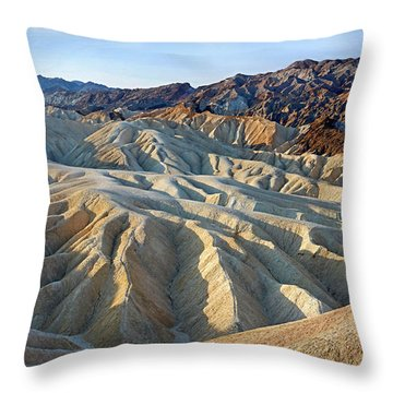Sunrise At Zabriskie Point Throw Pillow