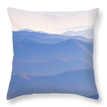 Sunrise Atop Clingman's Dome Ltriptych Throw Pillow