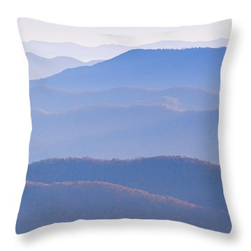 Sunrise Atop Clingman's Dome  Rtriptych Throw Pillow