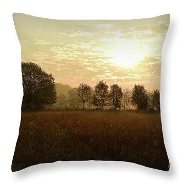 Sunrise Autumn Equinox 2017 Throw Pillow