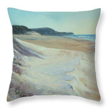 Sunrise Beach And Lions Head Noosa Heads Queensland Throw Pillow