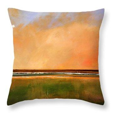 Sunrise Beach Throw Pillow by Toni Grote