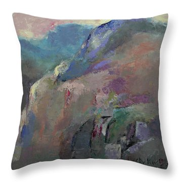 Sunrise Throw Pillow by Becky Kim