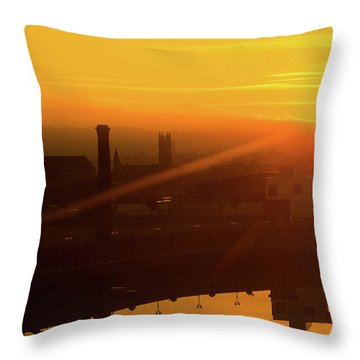 Sunset Belfast Throw Pillow