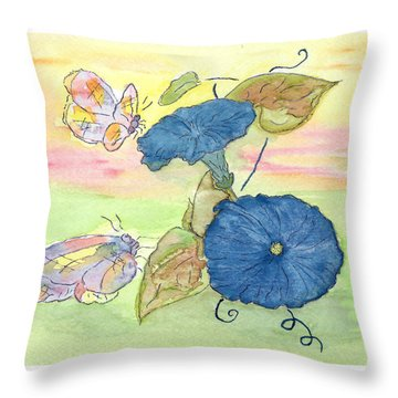 Throw Pillow featuring the painting Sunrise by Belinda Landtroop
