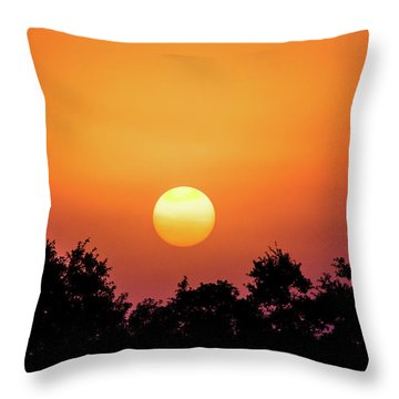 Throw Pillow featuring the photograph Sunrise Bliss by Shelby Young
