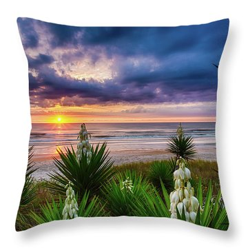 Sunrise Blooms Throw Pillow