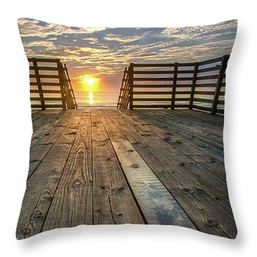 Sunrise Boardwalk Throw Pillow