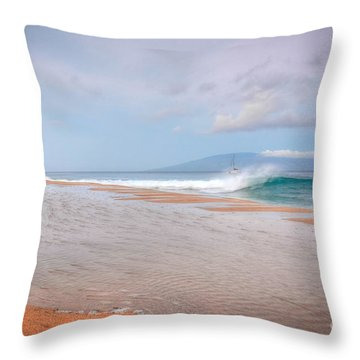 Throw Pillow featuring the photograph Sunrise Break by Kelly Wade