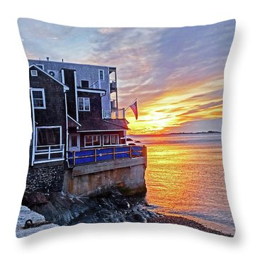 Sunrise By The Barnacle Marblehead Ma Throw Pillow