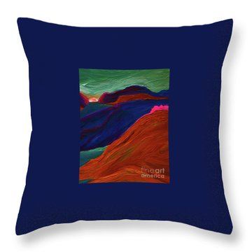 Throw Pillow featuring the painting Sunrise Castle 2  by First Star Art