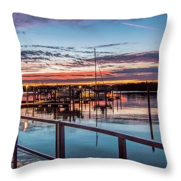 Sunrise Christmas Morning Throw Pillow
