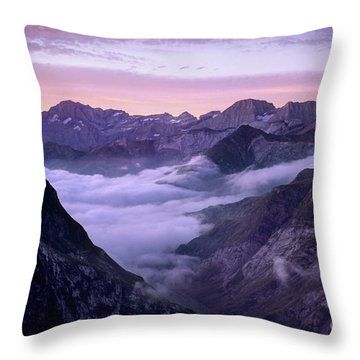Sunrise Cirque De Gavarnie Pyrenees Throw Pillow