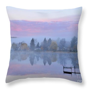 Sunrise Comes To Stoneledge Lake Throw Pillow