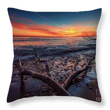 Sunrise Crossing  Throw Pillow