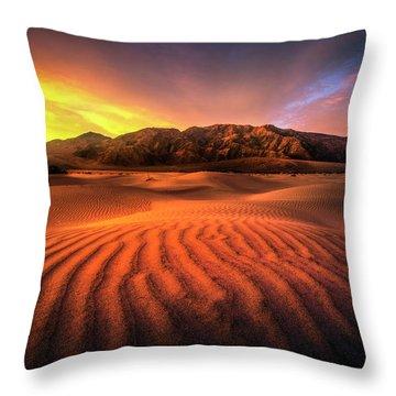 Sunrise-death Valley Throw Pillow