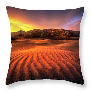 Sunrise-death Valley Throw Pillow