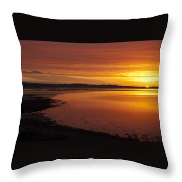 Sunrise Dornoch Firth Scotland Throw Pillow