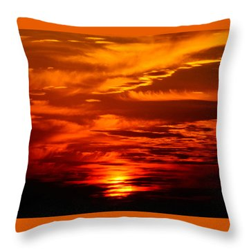 Sunrise Feathers Throw Pillow