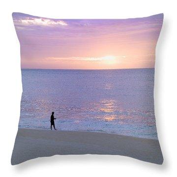 Sunrise Fisherman 2 Throw Pillow