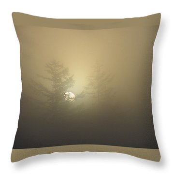 Sunrise Fogged - 1 Throw Pillow