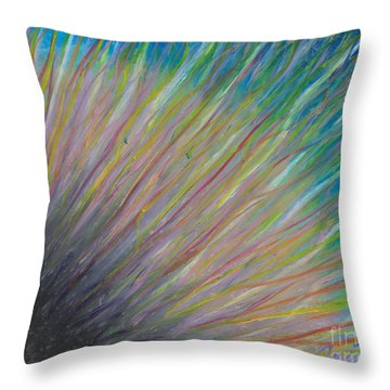 Throw Pillow featuring the painting Sunrise For Jane by Ania M Milo