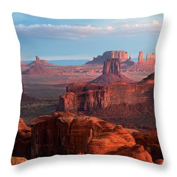 Sunrise From Hunt's Mesa Throw Pillow