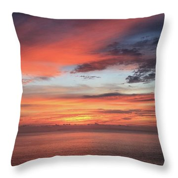 Sunrise From Koko Head Throw Pillow