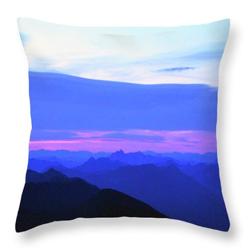 Sunrise From Pilchuck Summit Throw Pillow